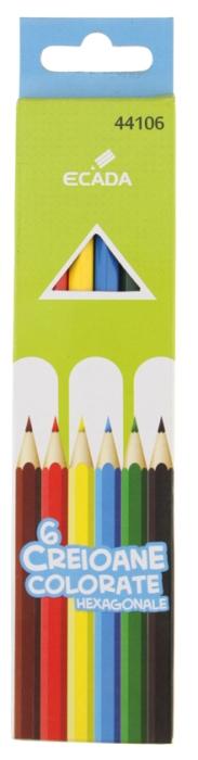 Creion color 6 culori Ecada [0]