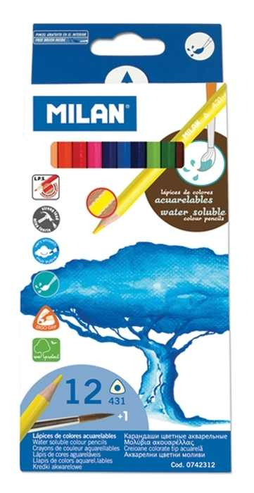 Creion color Milan 12 acuarela  [0]