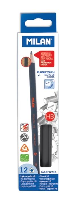 Creion Rubber Touch Milan 12 buc/set 0
