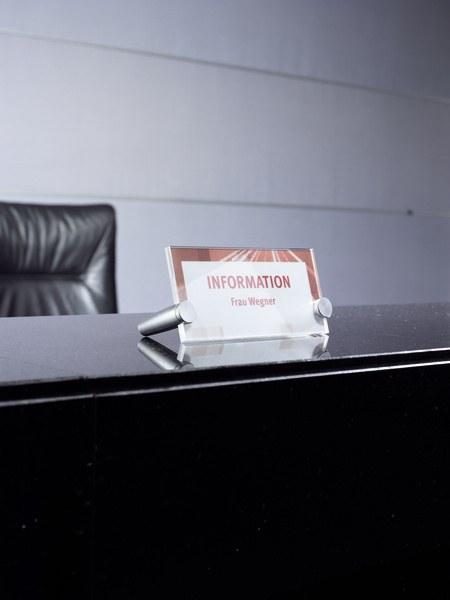 Crystal sign desk 170x120 mm transparent 3