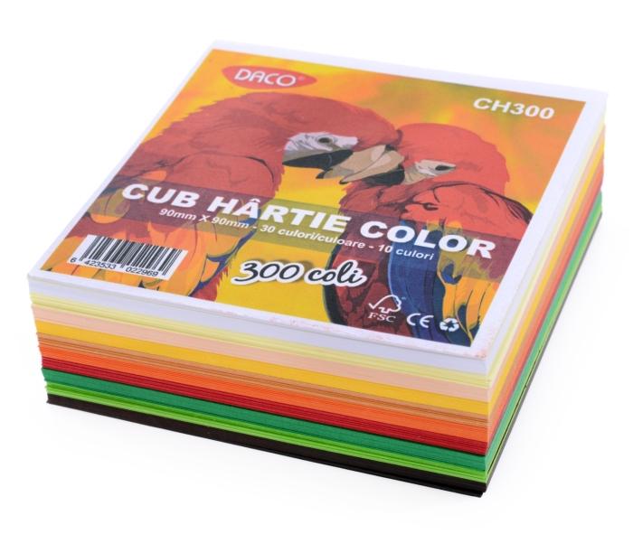 Cub hartie 9x9 cm 300coli 80gr 0