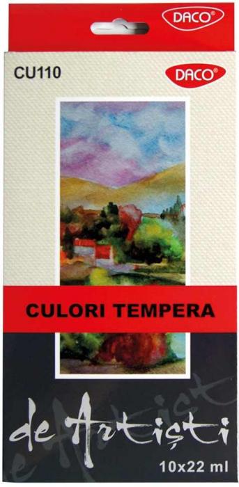 Culori tempera Artist Daco,10 culori  22ml 0
