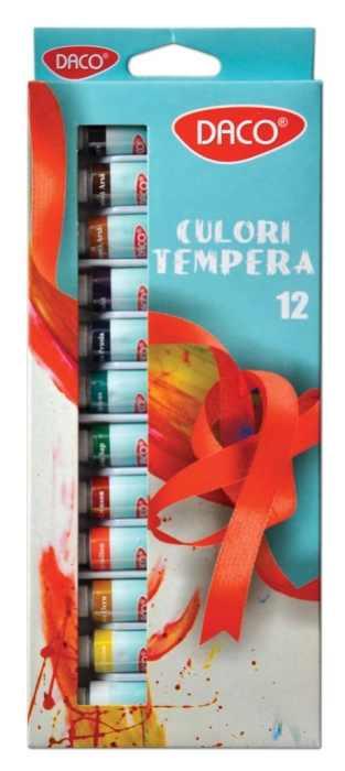 Culori tempera Daco 12 culori , 12ml [0]