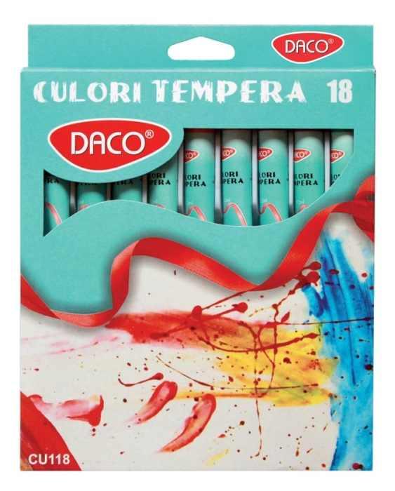 Culori tempera Daco 18 culori, 12ml  [0]