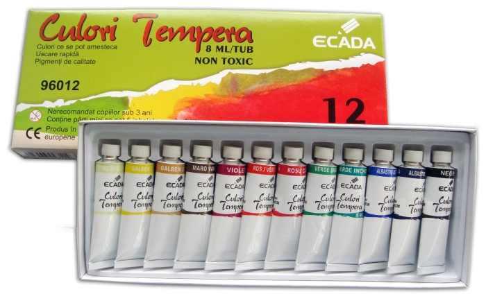 Culori tempera Ecada 12 culori , 8ml [0]