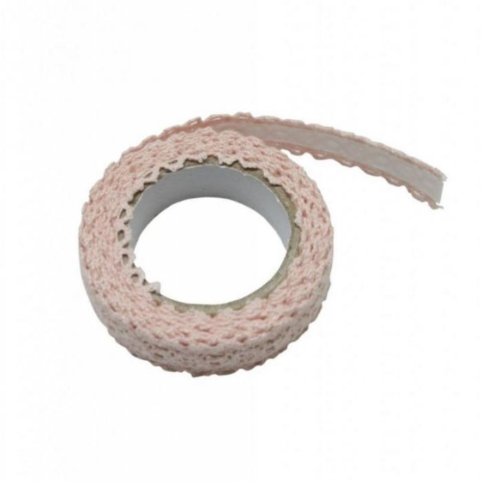 Dantela adeziva-roz- 1,5cmx2m 0