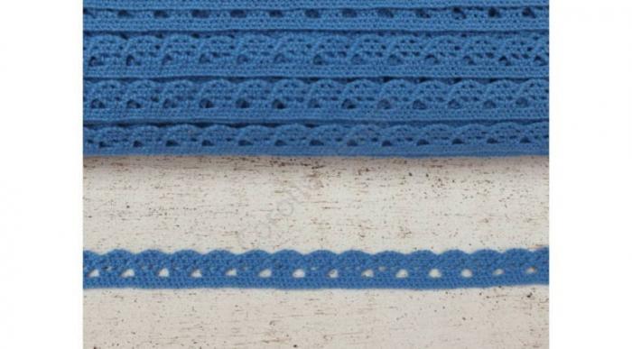Dantela albastru cer- 1m/1cm- 0094 0