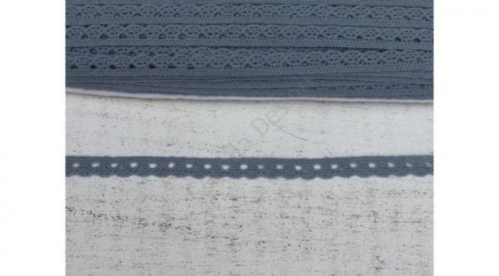 Dantela gri inchis- 1m/1cm- 0094 0