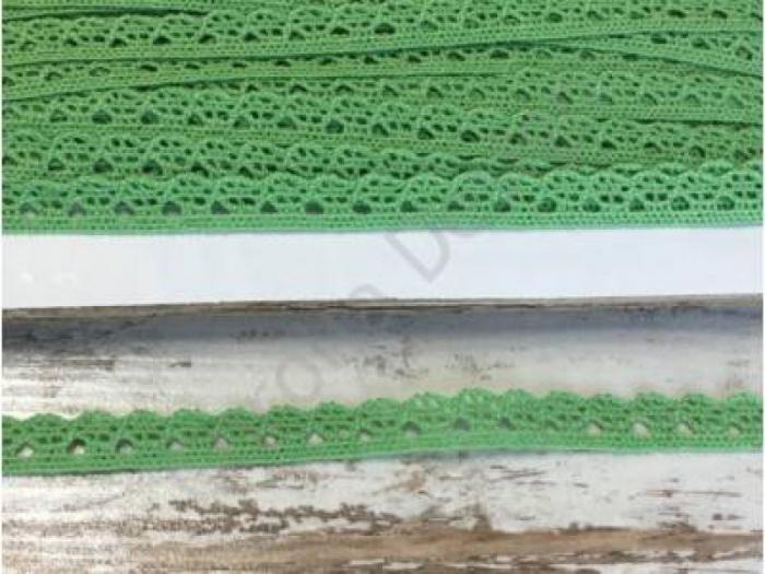Dantela verde mazare -1m/1cm- 0094 0