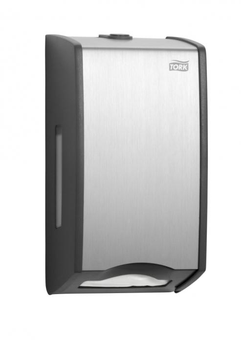 Dispenser hartie igienica Tork interfolded- aluminiu 0
