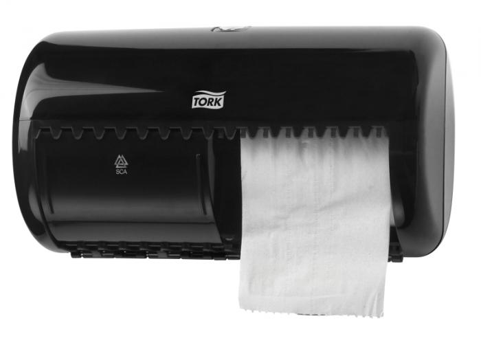 Dispenser hartie igienica Tork Twin pt. rola normala 1