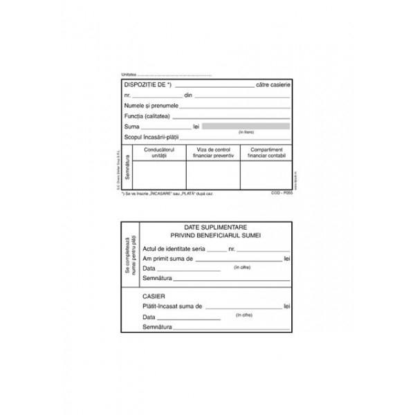 Dispozitie de plata - incasare catre casierie A6 - offset [0]