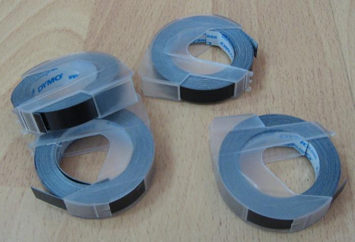 Dymo banda plastic 9mm*3m, tk10 negru [0]