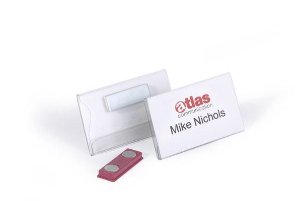Ecuson Magnetic 40x75 mm (set 25 buc, transparent) 0