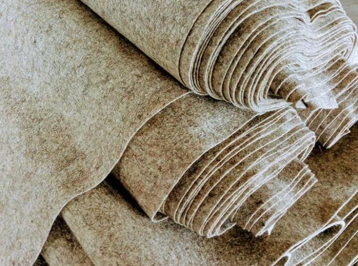 Fertu IDEA (60% lana, 40% viscoza) 50cm x 140 cm latime- melange- natur 0