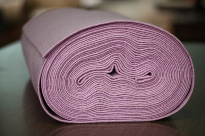 Fetru IDEA (60% lana, 40% viscoza) 50cm x 140 cm latime- mov salcam [0]