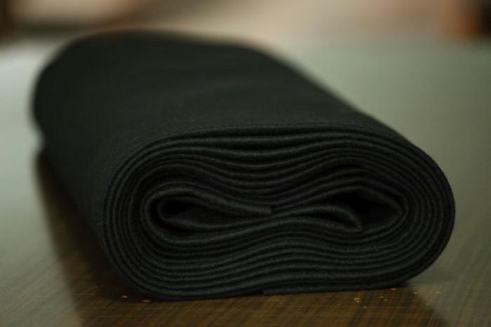 Fertu IDEA (60% lana, 40% viscoza) 50cm x 140 cm latime- negru 0
