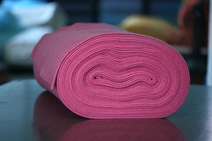 Fetru IDEA (60% lana, 40% viscoza) 50cm x 140 cm latime- pink [0]