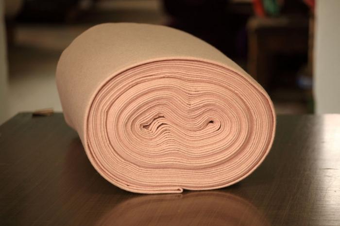 Fetru IDEA (60% lana, 40% viscoza) 50cm x 140 cm latime- pudra compacta [0]