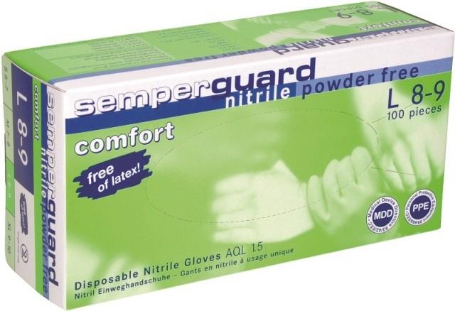 Manusi Semperguard nitrile 8-9-L, nepudrate, 100 buc [0]
