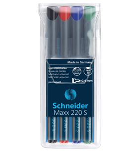 Marker Permanent OHP SCHNEIDER 220 superfin 4/set 0