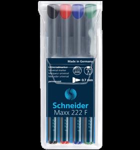 Marker Permanent OHP SCHNEIDER 222 fin 4/set [0]
