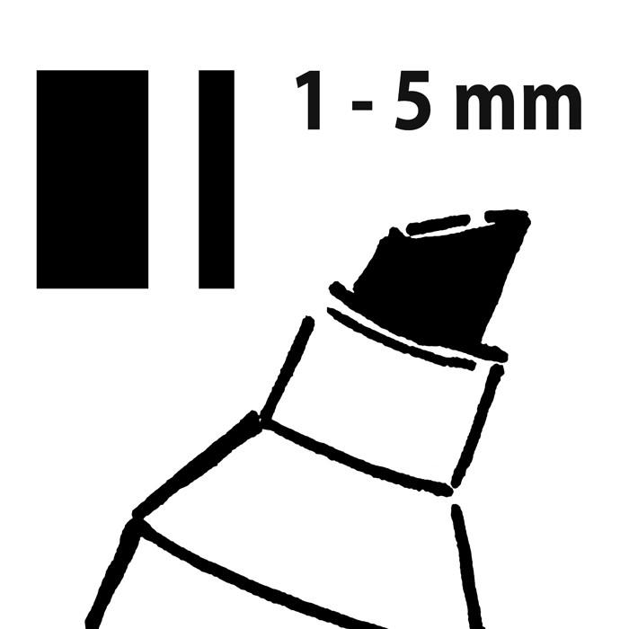 Marker tip creta 50, varf tesit 1-5 mm negru 1