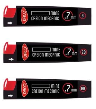 Mina creion mecanic 0.7mm Daco [0]