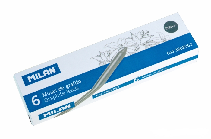 Mina creion mecanic Milan 5.2mm, 6 buc /set [0]