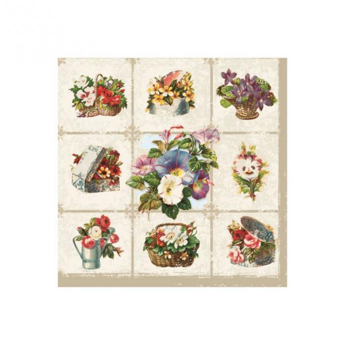 Servetel decorativ-aranjamente florale- 33x33 [0]