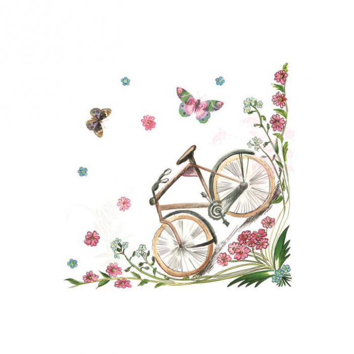 Servetel decorativ-bicicleta -33x33 [0]