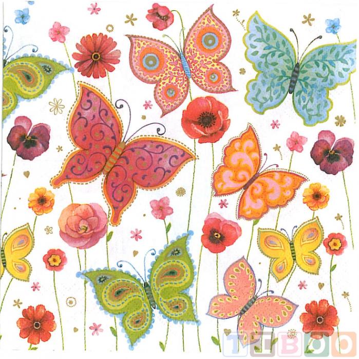 Servetel decorativ fluturi-33x33 [0]