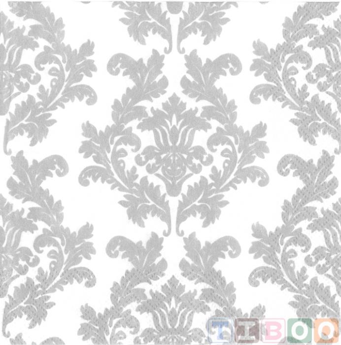 Servetel decorativ- ghirlanda argintie-33x33 [0]
