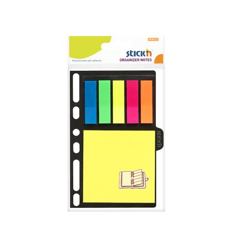 Set notes autoadeziv 76x76mm+ index autoadeziv din plastic 45x12mm- 6 culori neon-25file/buc 0