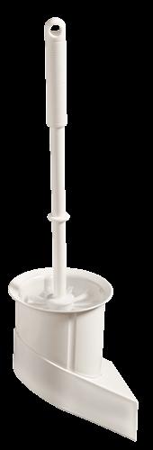 Set perie WC, montabil, alb [0]
