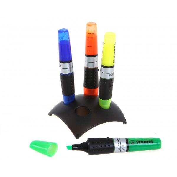 Stabilo Luminator cu suport 4 culori /set [1]