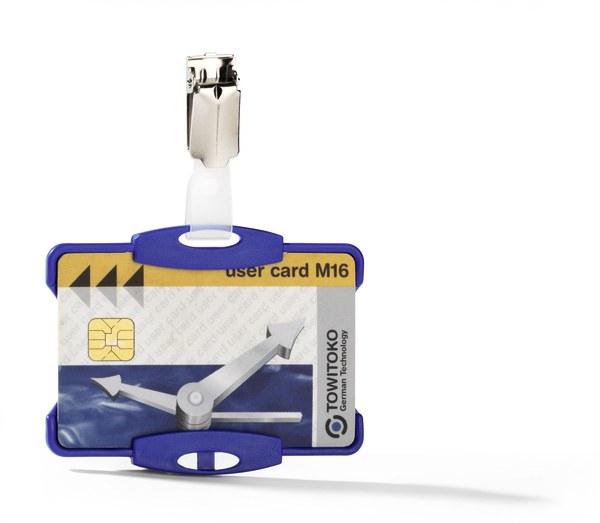 Suport card securitate orizontal cu clip standard [1]
