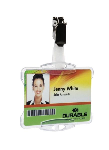 Suport card securitate orizontal cu clip standard [3]