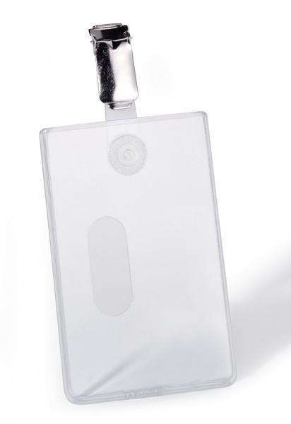 Suport card securitate vertical cu clip standard, set 25 buc [0]