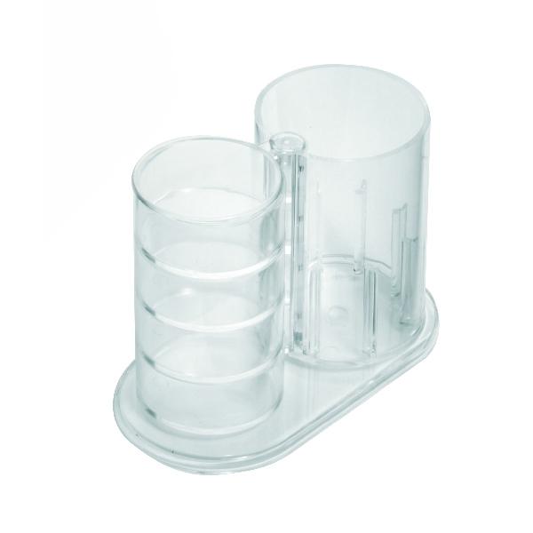 Suport instrumente de birou plastic cu 4 comp. rotative [1]