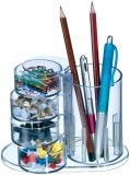 Suport instrumente de birou plastic cu 4 comp. rotative [0]