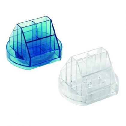 Suport instrumente de birou rotativ plastic cu 10 compartimente [1]