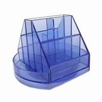 Suport instrumente de birou rotativ plastic cu 10 compartimente [0]