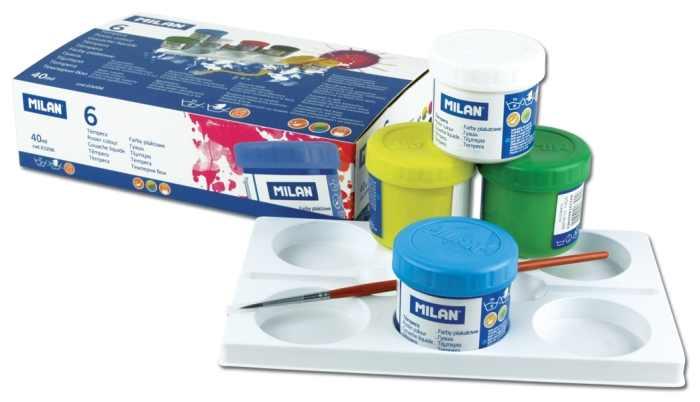 Tempera Milan 6 culori 40 ml/culoare [0]