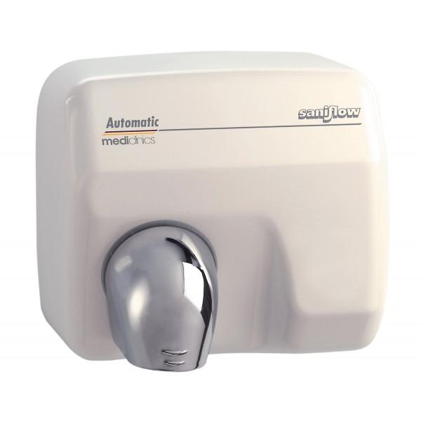 Uscator de maini SANIFLOW, metal, finisaj emailat alb, actionare cu buton [0]