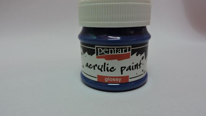 Vopsea acrilica lucioasa 50 ml-albastru [0]