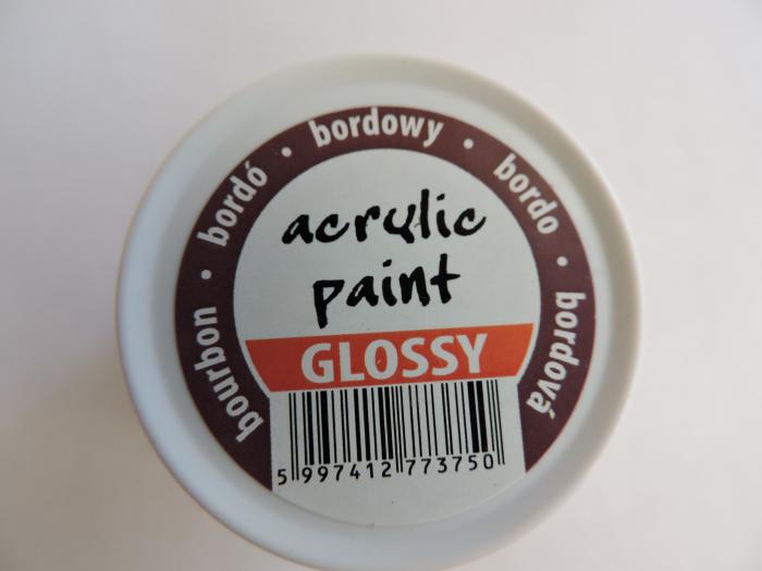 Vopsea acrilica lucioasa 50 ml- bordo [1]