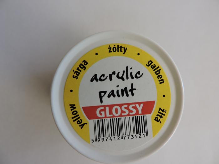 Vopsea acrilica lucioasa 50 ml- galben [2]