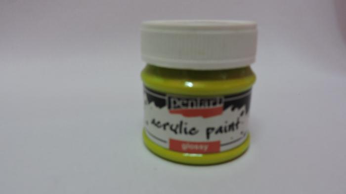 Vopsea acrilica lucioasa 50 ml- lime 0