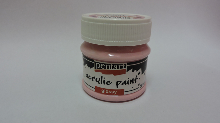 Vopsea acrilica lucioasa 50 ml- roz [0]